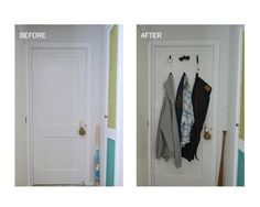 Take advantage of the vertical hanging space on the back of your bedroom door to hang up items and clothing. Use damage-free Command™ Spring Clips to help you stay organized! Click the link for more details.