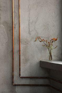 WABI SABI Scandinavia - Design, Art and DIY.: Concrete and copper in Stockholm Sports Bar