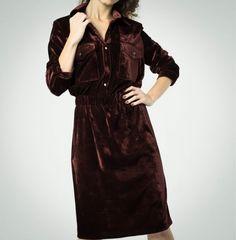 Купить Бархатное платье-рубашка - бархатное платье, платье из бархата, платье на каждый день