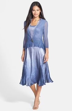 Komarov Charmeuse Dress & Chiffon Jacket available at #Nordstrom