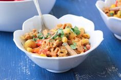 Spicy Southwest Pasta with Greek Yogurt Sauce | Bake Your Day - I am planning on trying this sauce on spaghetti squash today. I love Greek yogurt.