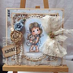 OOAK hand crafted Magnolia Tilda card topper | eBay