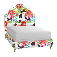 All Things Campbell: Ivy's Upholstered Bed. This would be so cute for the girl's room!