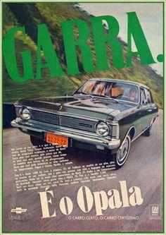 2863GM - CHEVROLET - Opala 1970 - Garra - É o Opala - Nas curvas ou nas retas, ...S - 29x41-