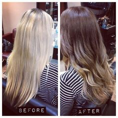 blonde to brunette ombre... For right before you plan to get pregnant since it is not safe to dye hair in the first trimester.