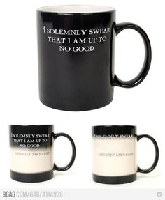 Harry Potter Transforming Mug. NEED THIS!!