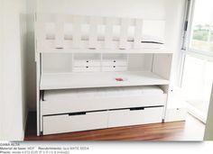 Literas infantiles con escalones escritorio cama movil arcones | Canballini | Venta online