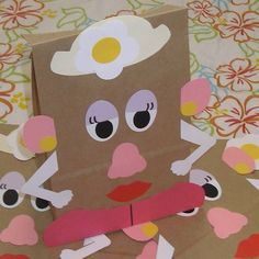 Potato head bag craft