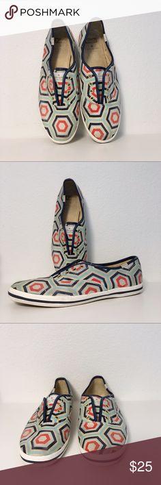 b2399ce3ff31 Kate Spade Keds Hexagon Print Laceless Shoes 7.5 Kate Spade for Keds  Hexagon Print Laceless Shoes