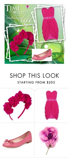 """princess pink"" by nastya-anas-mikheeva on Polyvore featuring мода, Vjera Vilicnik, Lipsy, Kate Spade и Gucci"