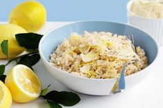 It's hard to imagine a world without lemons - nothing to squeeze onto fresh fish, no zesty lemon tarts, no lemonade! This lemon risotto is fresh and delicious!