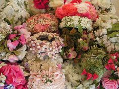 I am in love!  Are these vintage floral hats?