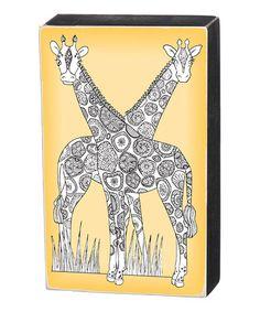 Look at this #zulilyfind! Giraffes Color Sign #zulilyfinds