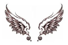 Amazing Angel Wings Back Tattoo