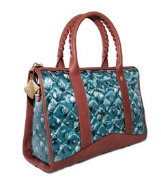 Crystal Shopper Powder Blue and Onion .  www.federicalunello.com  #federicalunello #bags #accessories #handmade #madeinitaly