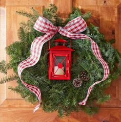 Love this idea for front door wreath holiday/winter wreath.  And, I think I could actually do this one!  :)