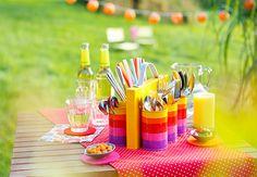 SUPER DIY Idee: Besteckcaddy Step by Step Anleitung und Einkaufsliste *** DIY Idea for handy Table Deco or colorful kids office ;-)