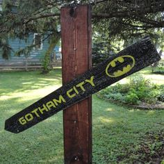 Hey, I found this really awesome Etsy listing at https://www.etsy.com/listing/125423764/gotham-city-wooden-directional-sign-made
