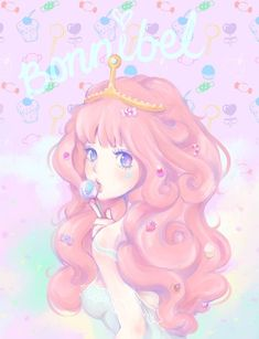 Princess Bubblegum fan art. Adventure Time.