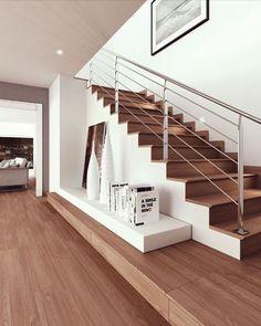 Laying Laminate Flooring, Wood Flooring Options, Flooring On Walls, Laminate Stairs, Tile Stairs, Porch Flooring, Wood Tile Floors, Wood Laminate, Stone Flooring