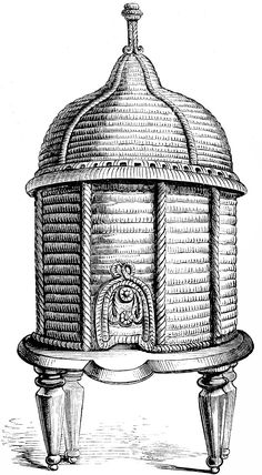 Vintage Clip Art - Ornate Bee Hive - The Graphics Fairy