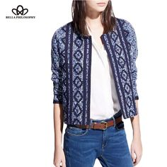 autumn winter new ethnic vintage Long Sleeve floral embroidery jacket coat navy blue