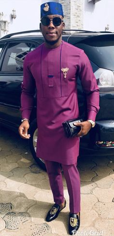 Fola African men shirt and a matching pant set/African clothing/ Africa men clothing/ Africa men Shirt/Dashiki/Tunic shirt/Prom/Groom suit African Male Suits, African Wear Styles For Men, African Shirts For Men, African Dresses Men, African Attire For Men, African Clothing For Men, African Style, Nigerian Men Fashion, African Men Fashion