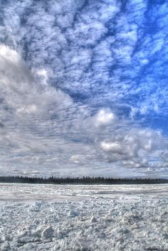 'Snow and Sky at Fort Providence', NT  - photo by Chantal Dubuc, via Flickr