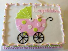 9 Baby Shower Cakes Made Like A Carriage Photo - Girl Baby Shower Carriage Cake, Beautiful Baby Shower Cake and Baby Shower Carriage Cupcake Cake Torta Baby Shower, Baby Shower Cakes For Boys, Baby Shower Games, Baby Shower Parties, Baby Showers, Shower Bebe, Baby Boy Shower, Baby Carriage Cake, Diaper Cake Boy