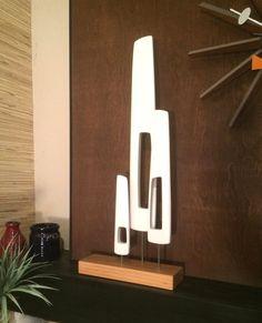 mid century modern abstract sculpture danish by Jetsetretrodesign