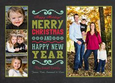 4 photo Rustic Photo Christmas Card by MakinMemoriesOnPaper, $15.00