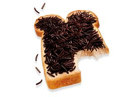 DeRuijter Chocoladehagel: In the Netherlands, bread topped with 'hagelslag', chocolate sprinkles is served for breakfast. The Dutch take their chocolate seriously. Only hagelslag with a cacao percentage of more than 35 can bear the name chocolate hagelslag. http://en.wikipedia.org/wiki/Sprinkles  #Hagelslag #Chocolate_Sprinkles
