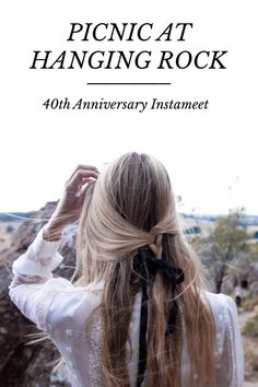 "PICNIC AT HANGING ROCK 40th Anniversary Instameet To celebrate the 40th anniversary of my father's film, ""Picnic at Hanging Rock"" I invited 4 Instagrammers to meet me at the Rock and share their artistic interpretations of the film... by by @ingridweir"