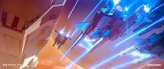 Infinite fleet / laser battle by Dofresh on DeviantArt Lego Wallpaper, Music Wallpaper, Sci Fi Games, Real Time Strategy, Cg Artist, Deep Space, Space Exploration, Sci Fi Fantasy, Sci Fi Art