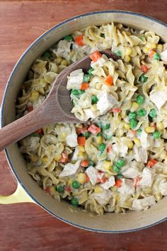 This creamy Chicken Pot Pasta is a perfect, easy one-pot comfort food meal for the whole family. Just 314 calories or 8 Weight Watchers SmartPoints!