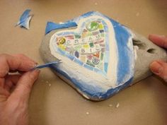 How to mosaic a rock!