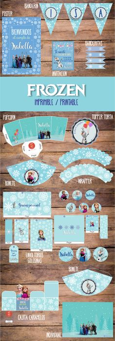 Candy Bar Frozen, Frozen Party, Frozen Birthday, Girl Birthday, Printable Planner Pages, Printables, Cumple De Frozen Ideas, Goodie Bags, Party Supplies