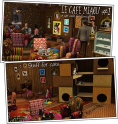 Around the Sims 3   Downloads   Objects   Le Café Miaou, a Sim cat cafe
