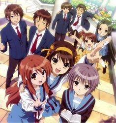 """Anime: Haruhi suzumiya Foto grupal de  """"La brigada S.O.S"""""""