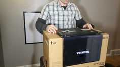 """How to Make a DIY Home Theater Projector and 50"""" Screen for Only $5 (Great for March Madness!) « MacGyverisms"""