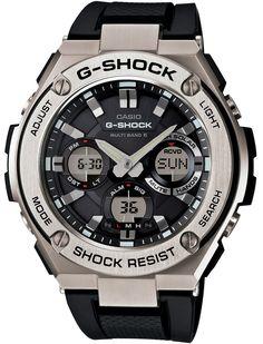 Amazon.co.jp: [カシオ]CASIO 腕時計 G-SHOCK G-STEEL 世界6局対応電波ソーラー GST-W110-1AJF メンズ: 腕時計通販