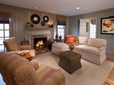 Rustic Living Room photo by Lisa Furey Interiors