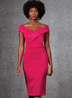 Buy the dress sewing pattern from Vogue® Patterns. Stand out from the crowd in this lined, close-fitting knit dress with bodice variations. Corsage, Vogue Sewing Patterns, Sewing Blogs, Miss Dress, African Dress, Fitted Bodice, Dress Patterns, Pattern Dress, Knit Dress