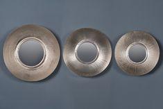 Купить Зеркала чеканные Мун, цвет nickel, набор 3 шт GGI 92 set - nickel 14 300 руб. в Москве | Интернет магазин мебели Dantonehome.ru
