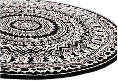 Contemporary round rugs - Quality from BoConcept Black Rug, White Rug, White Area Rug, Black Wool, Boconcept, Wool Area Rugs, Beige Area Rugs, Wool Rugs, Rug Runners