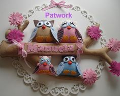Enfeite de porta de maternidade by Patwork2008, via Flickr