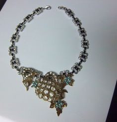 AUTHENTIC LULU FROST FOR J CREW JEWELED RHINESTONE VINERYARD NECKLACE 100g  #LuluFrost #Statement