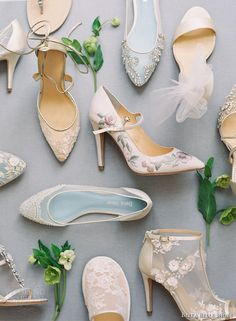 Gorgeous wedding shoes by Bella Belle