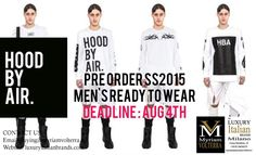 HOOD BY AIR : SS15 accepting Pre Orders!