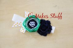 Made to Match Persnickety headband blue green